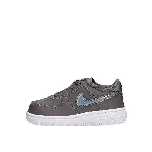 Nike Force 1 (TD), Pantofole a Collo Basso Bambino Unisex-Bimbi 0-24, Multicolore (Gunsmoke/Gunsmoke/White 019), 17 EU