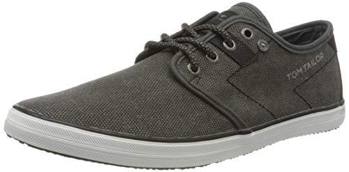 TOM TAILOR Herren 8081503 Sneaker, Schwarz (Black 00001), 44 EU
