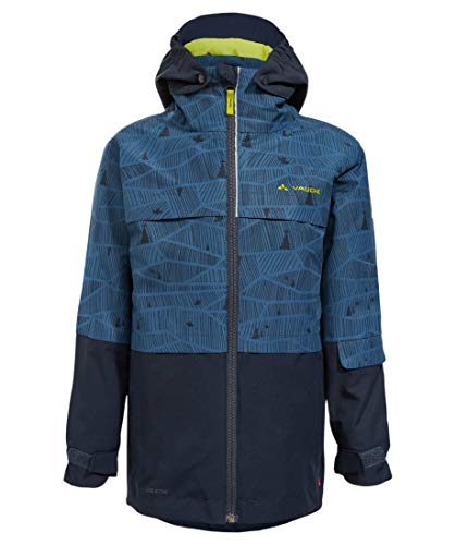 VAUDE Kinder Snow Cup 3in1 Jacke AOP, deep Water, 158