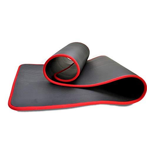 N\C Colchoneta de Yoga colchoneta de Goma de nitrilo Absorbente de Sudor de 10 mm, colchoneta Antideslizante para Principiantes de 183 cm x 61 cm, cojín Suave, Alta Elasticidad