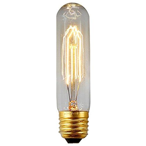 40W E27 Weinlese Glühlampe Schraube Glühlampe Altmodische Edison Art Glasantike Lampe T10-130MM