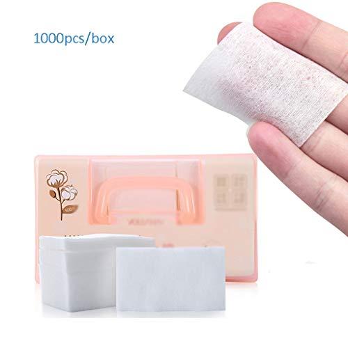 Coton Nettoyant Portable Maquillage Coton Remover Coton Femelle Beauté Outils Jetable Coton Boxé Grande Pièce 1000 Pièce Faciale Compresse Humide Doux Confortable (Color : White, Taille : 5 * 8.5cm)