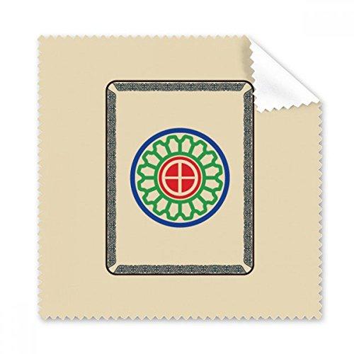 DIYthinker Mahjong Cirkel Dots 1 Tegel Patroon Bril Doek Schoonmaken Doek Telefoon Scherm Cleaner 5 Stks Gift