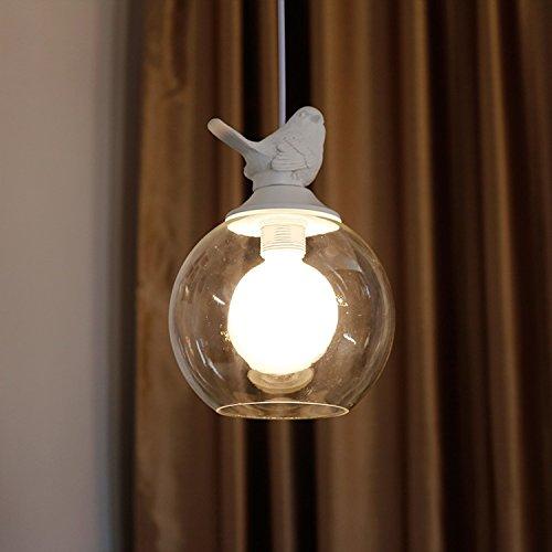 RAING Lampadari a Sospensione a Forma di Uccellino in Vetro a Testa Singola