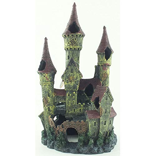Betta Large Castle Ruin Aquarium Fish Tank Ornament