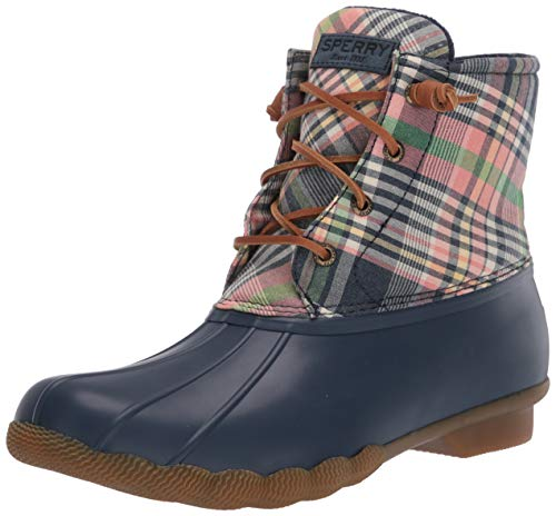 Sperry Women's Saltwater Washed Plaid Rain Boot, Navy / Plaid, 9.5 M US -  STS85209-996-9.5 M US