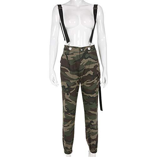 VHGYU Dames vrijetijdsbroek jogging broek vrouwen opstap slim fit vracht jogger broek met bretels Junior-meisjes-casual camo dunne lange broek Baggy jogger trainingsbroek