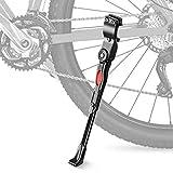 mopalwin béquille réglable Vélo, avec Pied en Caoutchouc antidérapant adapté au vélo de Montagne, vélo de Route, vélo pour Enfants, Compatible pour vélo avec de 24 à 28 Pouces