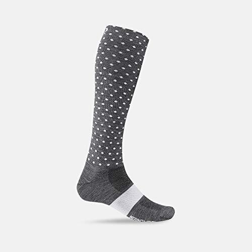 Giro Unisex – volwassenen Hightower Merino Wool fietskleding, charcoal/white dots, S | EU 36-39