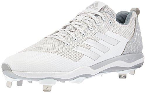 adidas Herren Adizero Afterburner 4 Baseballschuh, Weiá (FTWR Weiß, Silver Met, Hellgrau), 49 EU