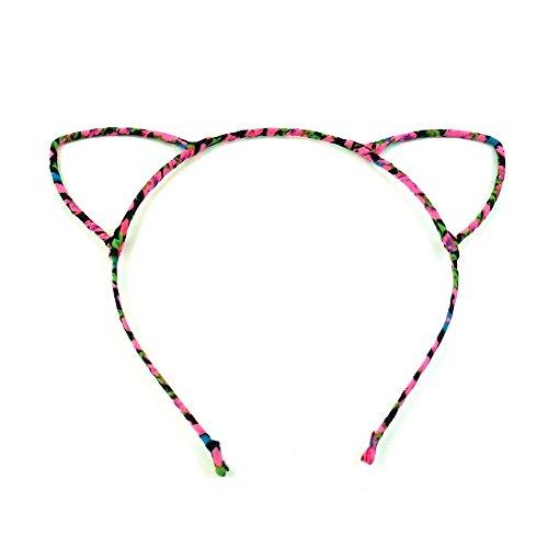 rougecaramel - Accessoires cheveux - Serre tête oreille de chat - rose multicolore