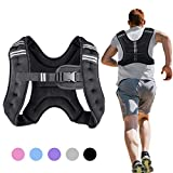 Henkelion Weighted Vest Weight Vest for Men Women Kids Weights Included, Body Weight Vests Adjustable for Running, Training Workout, Jogging, Walking - Black - 12 Lbs