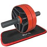 Eono by Amazon - AB Wheel Roller Abdominales con Almohadilla para Rodilla, Rueda Doble Modo práctico Aparato de Fitness para Entrenar Musculatura y Espalda