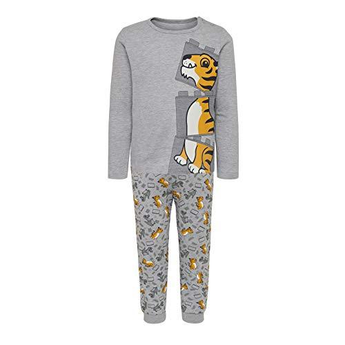 LEGO Baby-Jungen CM-50441-PYJAMAS Zweiteiliger Schlafanzug, Grau (Grey Melange 921), (Herstellergröße: 104)