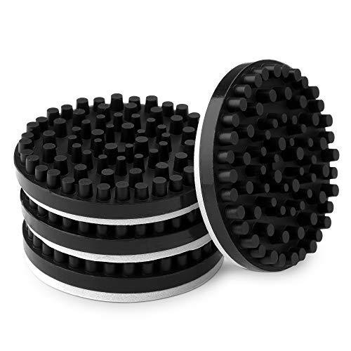 kwmobile Piezas de Amortiguador de Sonido - Kit de 4X Goma de Silicona antivibración para Altavoces Tocadiscos vinilos Equipo de Sonido Home Cinema