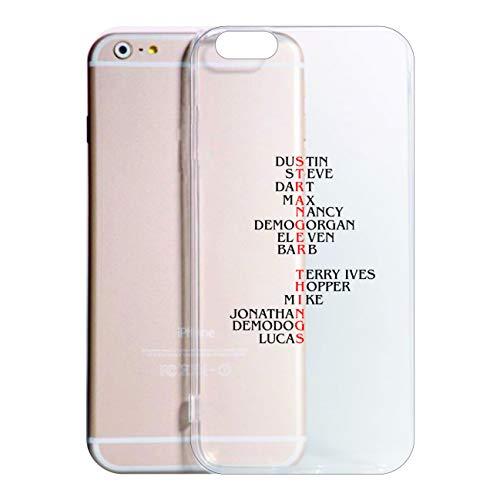 Cover iPhone 8-8 Plus -X -6-6 Plus -6S -6S Plus -7-7 Plus-XR -XS -XS Max - Stranger T. Modello 8 Trasparente Vari Colori Sottili AntiGraffio Antiurto Custodia (Trasparente, iPhone 11)