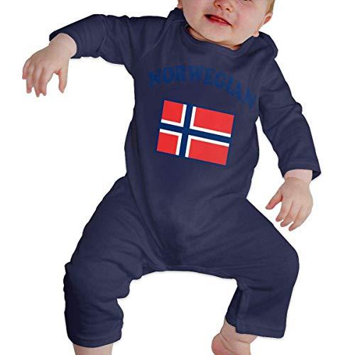 TJKK - Mono de manga larga con bandera de Noruega para bebé 1 color 18 Meses