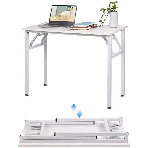 Productos para el hogar Escritorio de computadora moderno Escritorio de computadora plegable 100 * 50 cm Mesa de escritorio de estudio de trabajo portátil blanca para espacios pequeños Sala de esta
