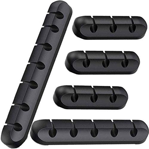 JOYZON Cable Holder Clips 5 Pack Cable Management Cord Organizer Clips Silicone Self Adhesive product image