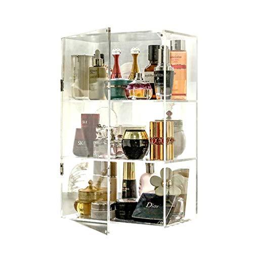 Soporte de exhibición de joyería Transparente Acrílico Cosméticos Cuidado de la Piel Productos Perfumes Tapa de Almacenamiento Titular del Organizador