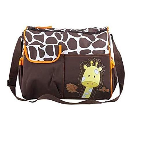 Sac à Langer, Marbeine Sac à Couches Multifonctionnel Sac à Bandoulière pour Maman (Girafe Orange)