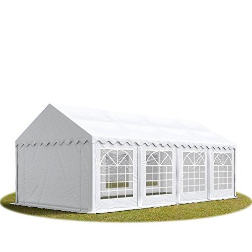 TOOLPORT Party-Zelt Festzelt 3x9 m Garten-Pavillon -Zelt ca. 500g/m² PVC Plane in weiß Wasserdicht