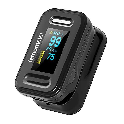 Pulsoximeter für die Fingerspitze, tragbarer Blutsauerstoffsättigung Monitor mit digitalem OLED-Display für Sport und Luftfahrt