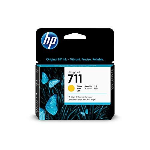 HP 711 Gelb Original Druckerpatrone (29 ml) für HP DesignJet, One Size