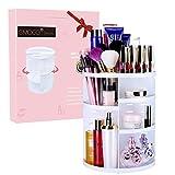 Rangement Maquillage Organiseur de maquillage Emocci DIY amovible Make Up support de stockage de grande capacité Boîte de rangement pour cosmétiques Acrylique (Blanc)