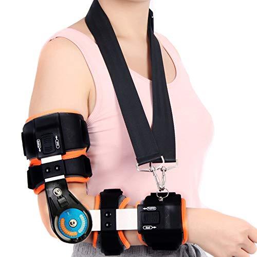 WY-Elbow Ellbogenstütze mit Scharnier - Ellenbogen Orthese - zur Linderung von Gelenkarthritis, Sehnenentzündung, Wiederherstellung von Sportverletzungen, perfekt für Frauen und Männer,Right