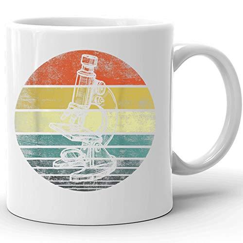 Science Gifts Retro Sunset Scientist Microscope Microscopy Coffee Mug