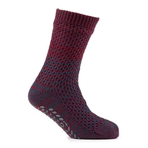 totes Herren Klumpig Strukturiert Vlies Gefüttert Socken Packung mit 1 Burg& 40-46