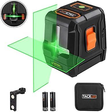 Foto di Livella laser verde, Tacklife SC-L07G Laser a croce 30m, laser lucido orizzontale e verticale a 110 °, autolivellante, rotazione a 360 ° con bloccaggio, supporto base magnetico