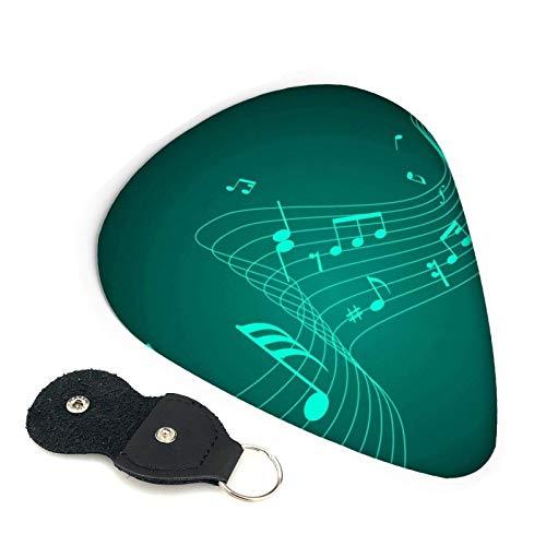 Púas de guitarra con notas musicales, paquete de 6,...