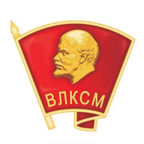 Jinling Lenin Commun Youth League Brust PVC Farbaufkleber Motorradaufkleber 14 * 12 cm (Color : 1)