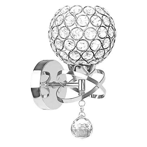 Moderne Kristall Wandleuchte LED Kreative Wandlampe Wandlicht für Schlafzimmer, Wohnzimmer, Diele, Esszimmer, Bett, Halterung E14 Sockel