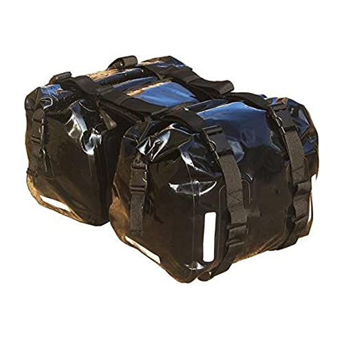 Bolsa Impermeable Bolsa de Montura de la Motocicleta, Bolsa de Asiento Trasero, Bolsa de Cola, Bolsa Colgante, Bolsa de Montar, Bolsa Lateral, 30 l, al Menos 200 kg, 1 par-Negro 25l