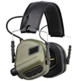 OPSMEN Electronic Shooting Noise Safety Earmuff Sound Amplification Protection Green