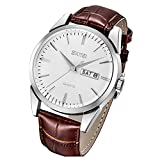 SKMEI Leather Watches for Men Dress Classic Business Fashion Casual...