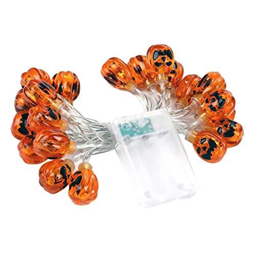 H HILABEE 3m 20 LEDs Kürbis Lichter Lichterkette Sommerlichterkette Batteriebetrieben für Halloween Party Hause Dekoration, Warmweiß