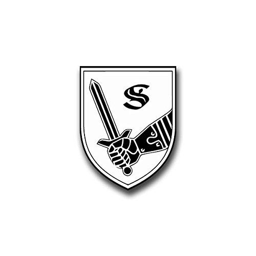 Copytec Aufkleber/Sticker - Panzertruppenschule Munster Sticker Aufkleber Heer Panzer Truppen Schule Wappen Abzeichen Emblem Bundeswehr passend für Jeep Dodge Hummer Mercedes Benz 5x7cm #A820