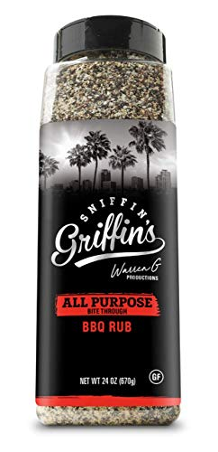 Sniffin Griffins All Purpose Rub - All American Seasoning Mix, Dry Beef Rub Perfect for Smoking, Grilling, Cooking (All Purpose, 24oz)