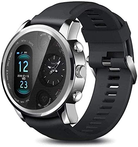 Smart Watch Fitness Tracker reloj deportivo pulsera de actividad con monitor de ritmo cardíaco para mujeres hombres IP68 impermeable pantalla táctil completa para Android y amp Iphone-Grey