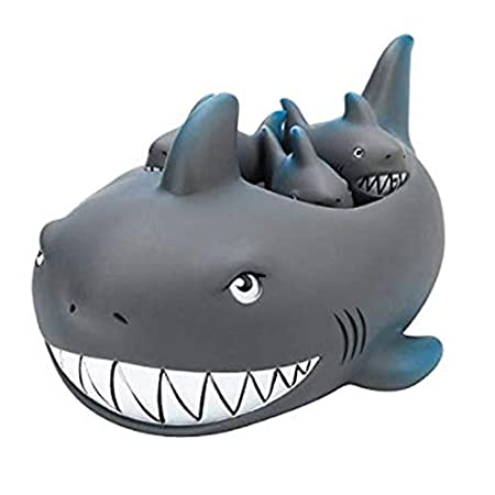 Rubber Shark Family Bathtub Pals - Floating Bath Tub Toy Image