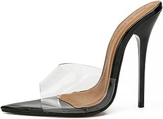 ypyrhh For Men Non-Slip Flip Flops,Before wearing breathable sand,high heel sandals-Transparent_41,EVA Open Toe Soft Slippers