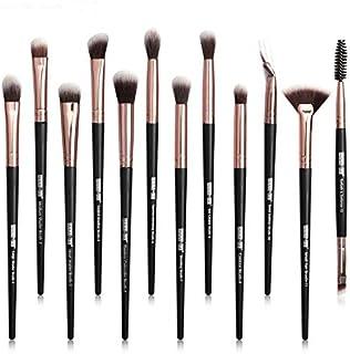 Maange Eye Make-up Borstels Set, 12 PC's Professionele Make-up Borstels Kit met Premium Houten Handgrepen voor Oogschaduw,...