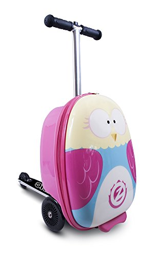 ZincFlyte Kid's Luggage Scooter 18' - Olivia The Owl