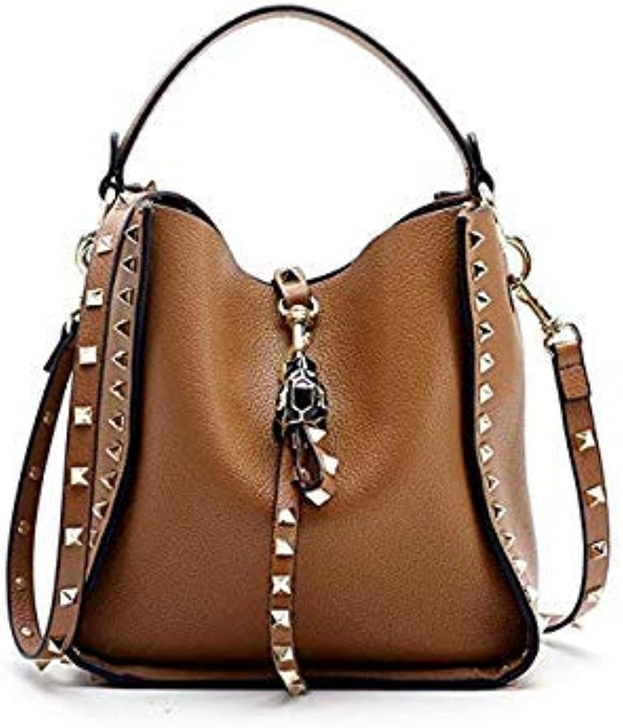 90377ae5c20d Genuine Leather Famous Brand Rivet Crossbody Bags for Women ...