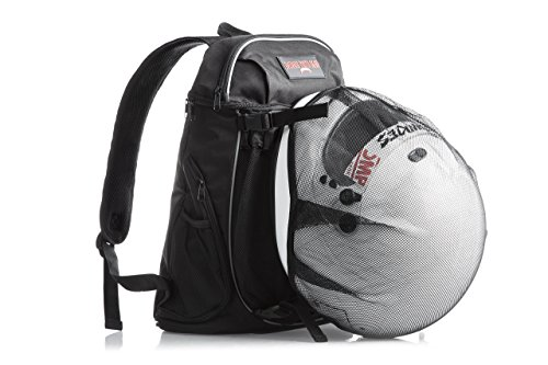 Badass Moto Cool Motorcycle Helmet Laptop Backpack for Men & Women. Perfect Carry on Travel Backpack. Airline Approved Personal Item. Gym, College & School Backpack. Removable Full Face Helmet Net