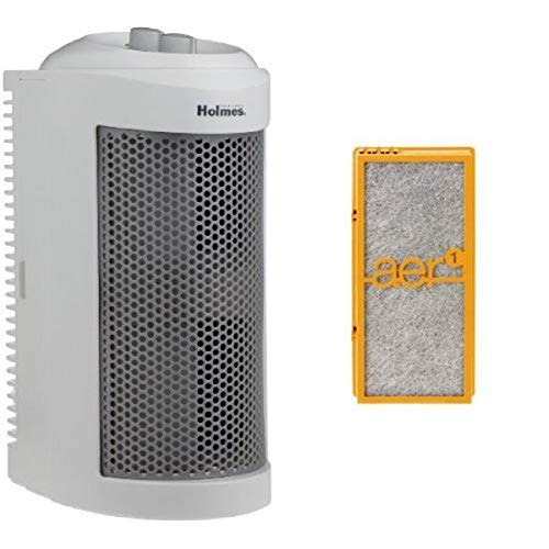 Lowest Price! Holmes True HEPA Allergen Remover Mini Tower Air Purifier with Smoke Grabber Filter